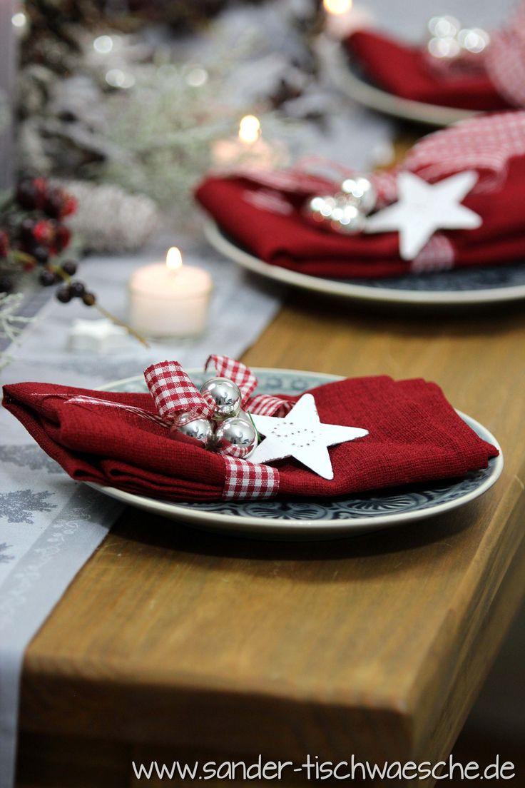 weihnachtliche serviettendeko ganz fix gemacht servietten linea von sander weihnachten. Black Bedroom Furniture Sets. Home Design Ideas