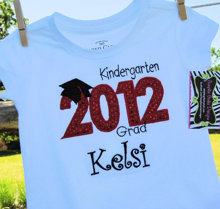 Custom Pre-K or Kindergarten graduation shirt. Many color options. Boys or Girls. Personalized.. $25.00, via Etsy.