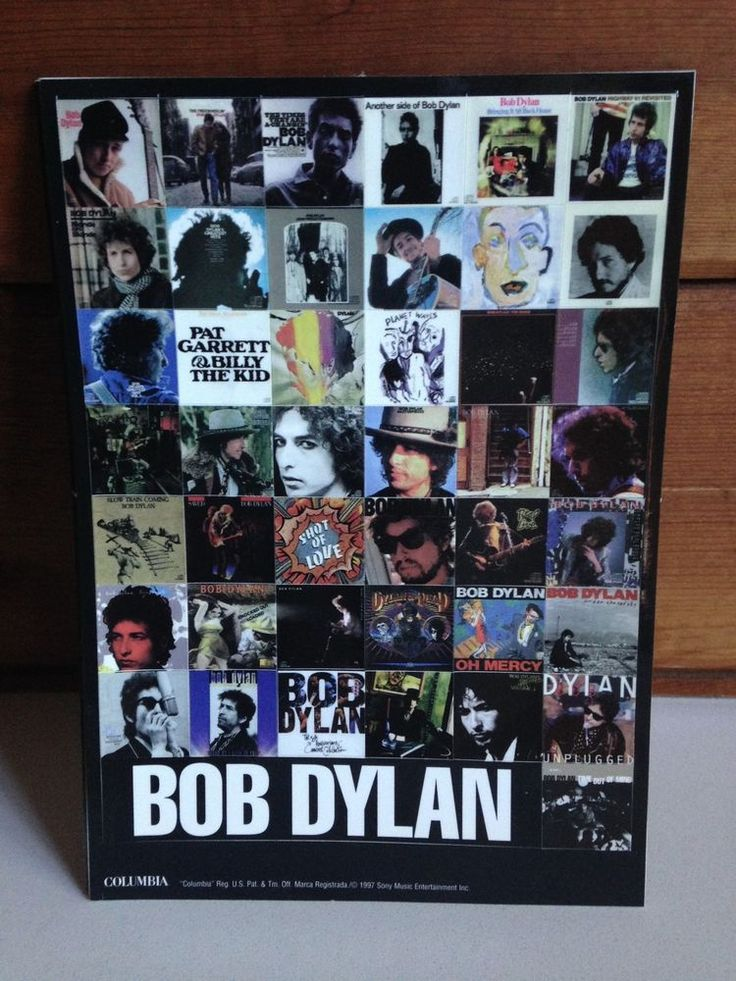 BOB DYLAN Lot of 9 Time Out of Mind double-sided PROMO Album Graphic Stickers