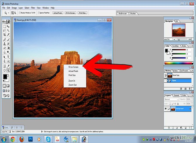 Crop and Re Size Photos at the Same Time Using Adobe Photoshop 7 Step 2.jpg