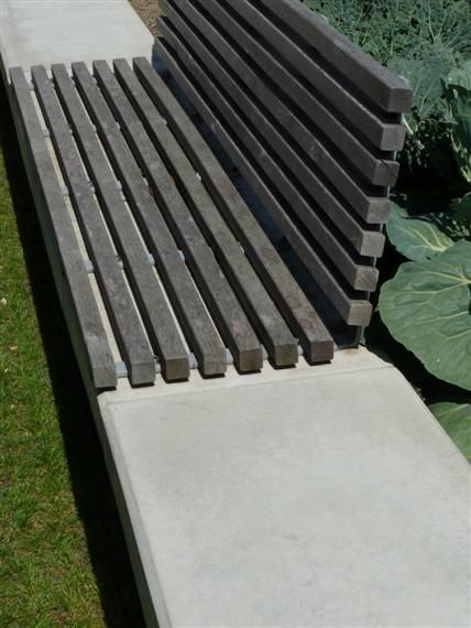 IDEA: Embedded bench seat, one placed along each section of the unused terrace.