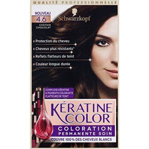 kranove 46 chtain chocolat coloration permanente soin la boite de 154ml - Coloration Nature Et Soin