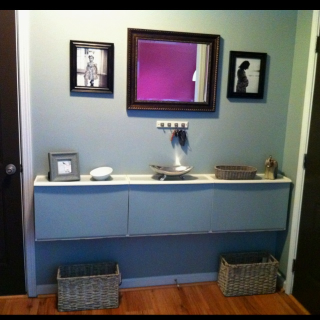 Recycling Bins For Small Spaces Part - 30: Retur Recycling Bins Turned Entry Table
