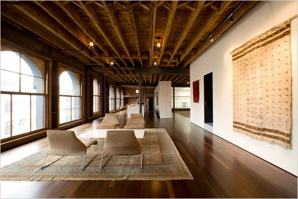 Soho loft apartment big windows beamed ceilings nyc for Lofts in new york city