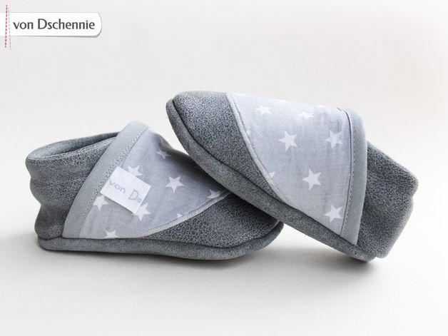 Krabbelschuhe - ♥ Edle Bioleder Lauflernschuhe/ Krabbelschuhe ♥ - ein Designerstück von von-dschennie bei DaWanda