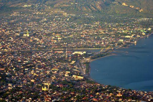 Kota Palu from sky