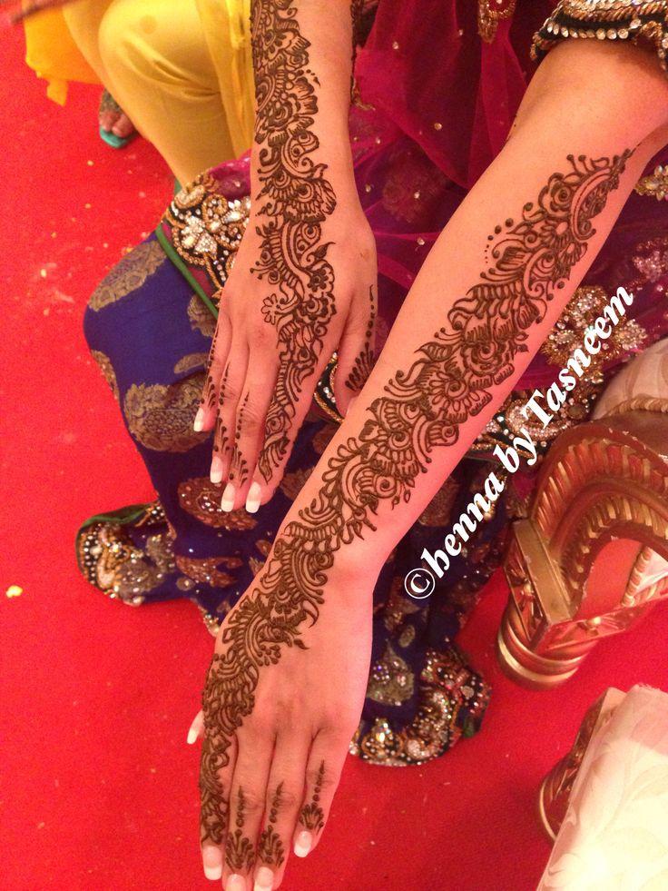 Back of brides arm henna