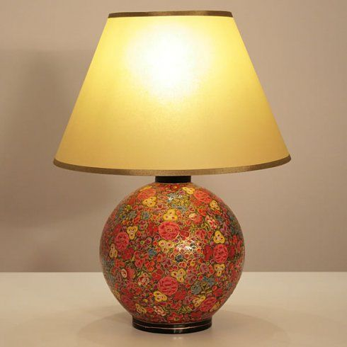 24 best images about painted lamps on pinterest vintage for How to make paper mache lamps