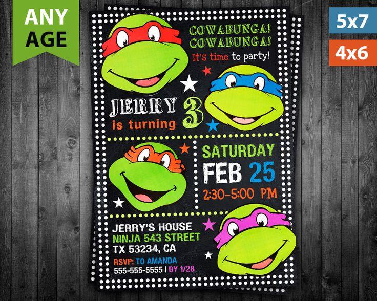 41 best Baby Shower images – Ninja Turtle Birthday Invitations Printable