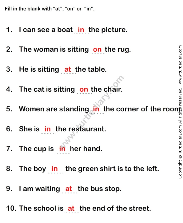 prepositions worksheet1 - esl-efl worksheets - grade-1 worksheets