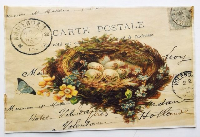 """Beautiful Nest Vintage Aged Papers 11"""" x 17"""""""
