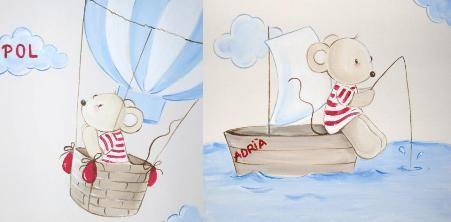 Murales infantiles y cuadros para la habitaci n del beb for Cuadros habitacion bebe