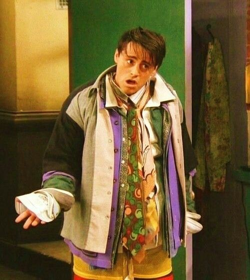 """"""" I'm Chandler Bing, could I be wearing anymore clothes?"""""""