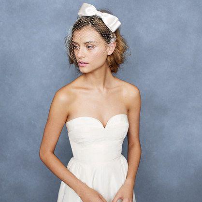 Jennifer Behr bow birdcage veil #wedding #wed #ido