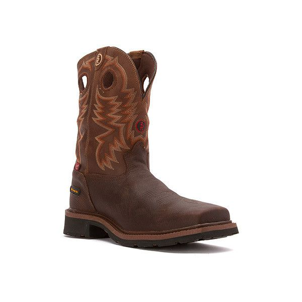 Tony Lama RR3303  Boots ($155) ❤ liked on Polyvore featuring men's fashion, men's shoes, men's boots, men's work boots, boots, briar grizzly, men, tony lama mens boots, mens western boots and mens western work boots
