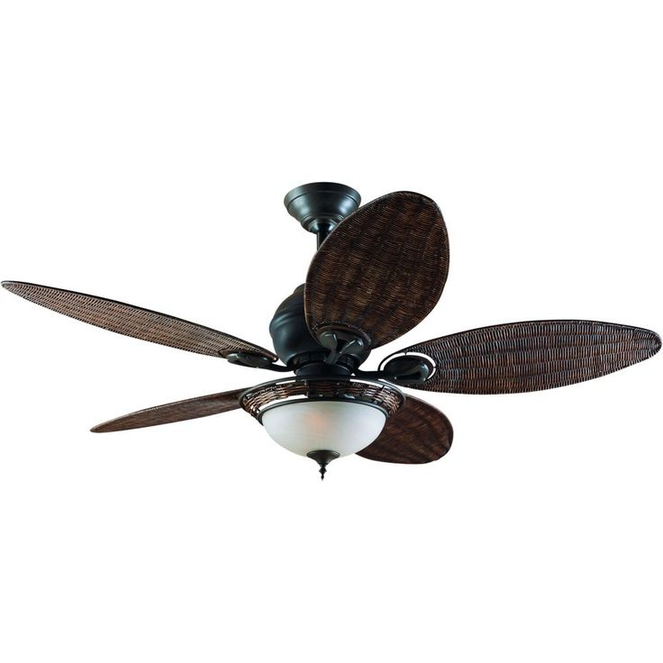 The compact motor housing of the Caribbean Breeze remains clean and simple in order to showcase the fan's stunning selection of real wicker blades. What better way to bring your fantasy of lush palms and tropical breezes to life