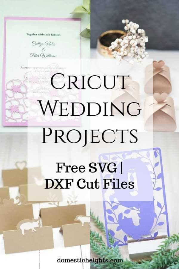 Cricut Wedding Ideas Domestic Heights Cricut Wedding Invitations Cricut Invitations Cricut Wedding