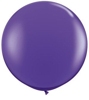 "36"" Round Purple Jumbo Balloon $4.99"