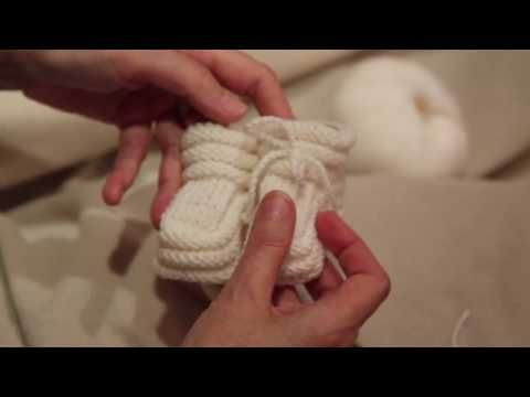 Babyschuhe stricken - YouTube