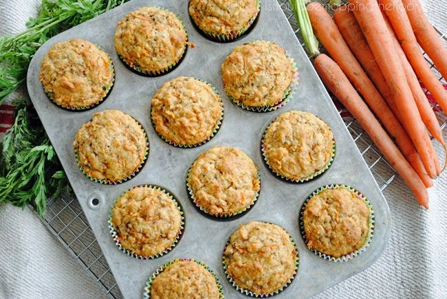 Greek Yogurt & Carrot Muffins | Perfect for the freezer and to pop in kids' lunches | Only 3 WW Points Plus each