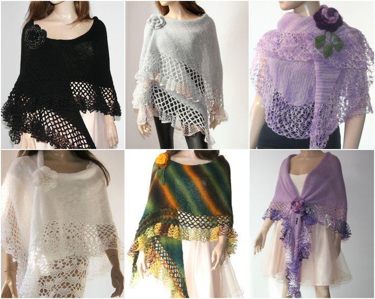 Wedding Bridal Shawl Black Scarf Bolero Shrug Lace Crochet. Available on my Etsy Shop: https://www.etsy.com/shop/GABRIELAFAUR #knitting #shawl #handmade #bolero