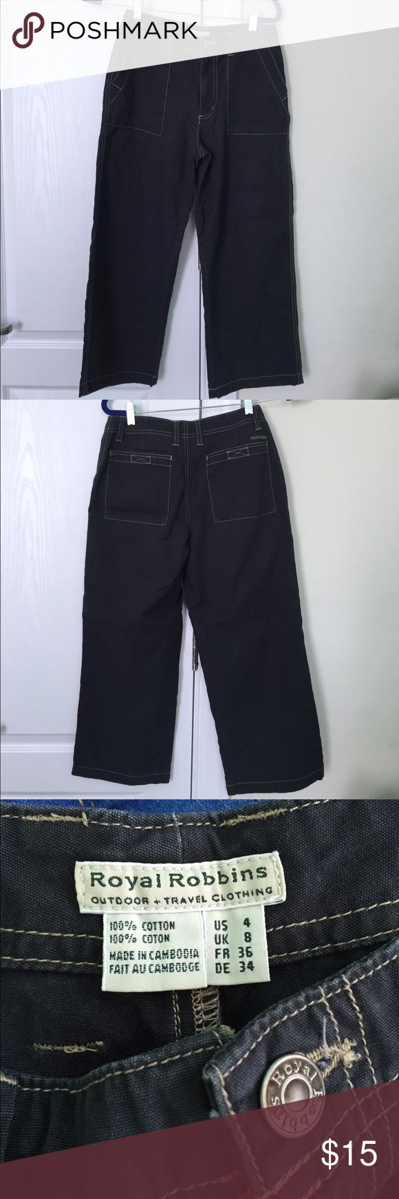 Royal Robbins Outdoor Pants Size 4. Velcro-close pockets on the back Royal Robbins Pants Capris
