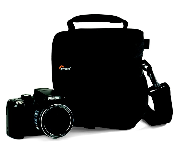 Lowepro Adventura 120 For the digital camera user who's looking for a protective, lightweight, streamlined bag that's packed with practical features at a great value-look to the Adventura™ 120. Lowepro's thoughtfully organized shoulder bag comes in three sizes to accommodate today's most popular DSLRs and compact system, mirrorless and micro four-thirds cameras, plus key accessories.
