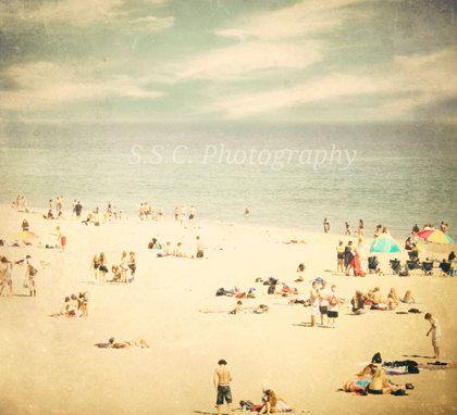 "Vintage Beach Photo. ""Summer in Santa Cruz"" 8x8. Beach. Ocean. Sea. Pale. Vintage. Retro. Texture. People. Summer. California. Water. Blue.. $20.00, via Etsy. @ http://www.etsy.com/listing/101557582/vintage-beach-photo-summer-in-santa-cruz?ref=tre-2723010156-1"