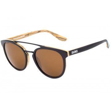 38c2d4bffa5f7 EVOKE KOSMOPOLITE DS3 - ÓCULOS DE SOL M01 BLACK SHINE   WOOD  BROWN    lindos óculos compra futura.   Brown, Black e Sole