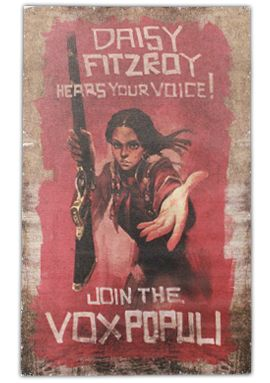 Daisy Fitzroy Canvas Print via the Irrational Games Store