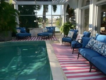 100 % Vinyl Runners Naples, Florida Pool Area - mediterranean - outdoor rugs - new york - MagdalenaYorkCollection