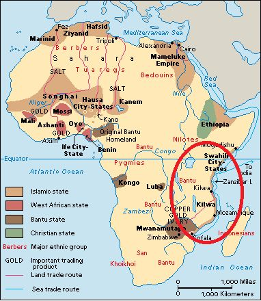 Map Of Africa: Kilwa Africa Map