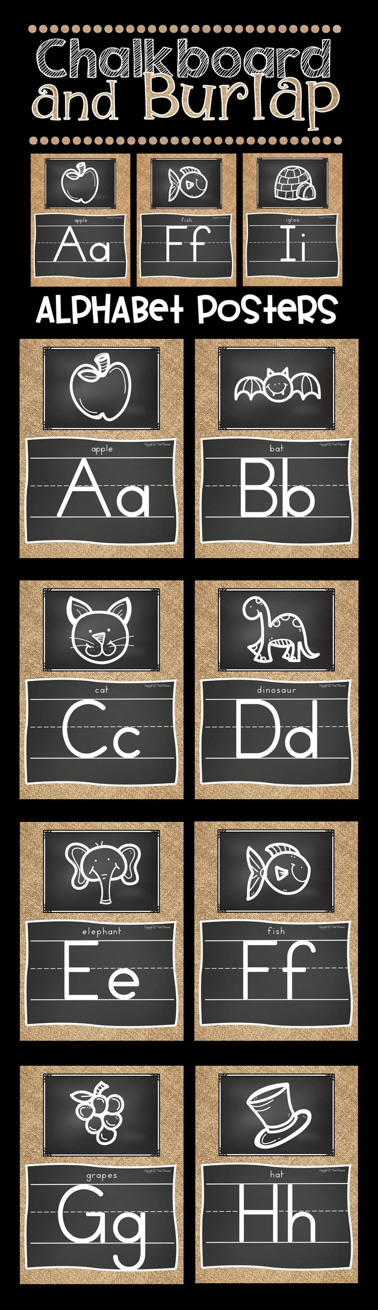 How adorable is this burlap and chalkboard classroom decor? I love the chalkboard doodle pictures! I can't wait to decorate my classroom this Fall!