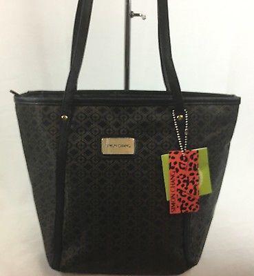 Simon Chang Lunch Bag Insulated Box Handbag Tote For Woman Black   / Gold   NWT