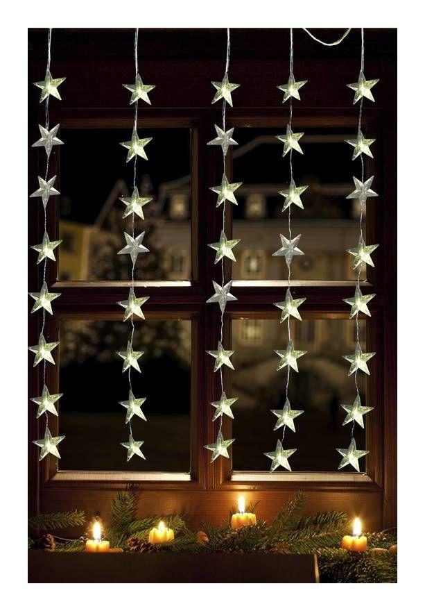 Rideau Etoile 40 Led Blanc Chaud Christmas Lights Christmas Indoor