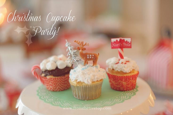 Christmas cupcake baking party for tweens!