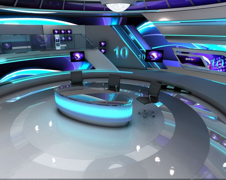 3d Virtual Studio Design Render Tv Set Design Virtual