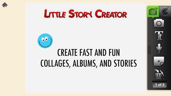Little Story Creator - a nice  iOS for scrapbooking or digital storytelling