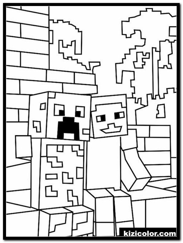 Free Printable Minecraft Coloring Page Youngandtae Com Minecraft Coloring Pages Cool Coloring Pages Super Coloring Pages