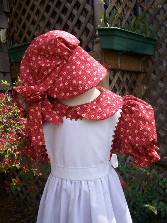 Girls Pioneer Dress(long or short sleeves) / Little House on the Prairie costume.sizes toddler size 2  to Girls 14