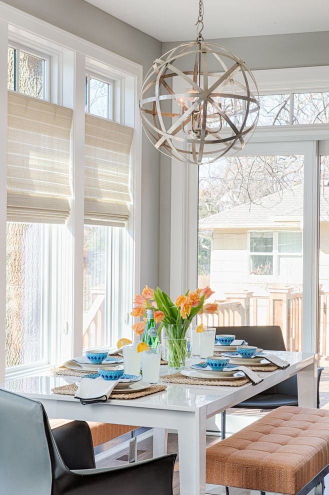 Ealing Dining E Design Near Clear Table Along With Upjolstered Bench Inside Eclectic Residence Refined Round Chandelier House