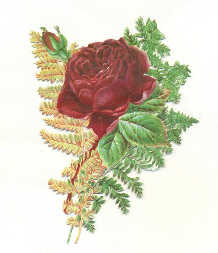 Victorian Scrap Rose | eBay