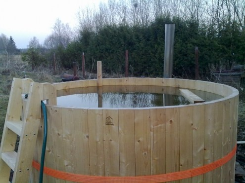 how to build level hot tub on the ground