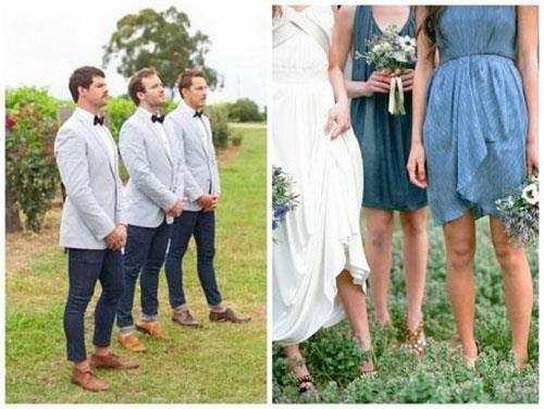 Джинсовый костюм на свадьбу