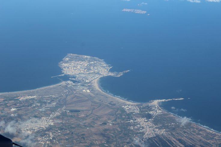 Perspectiva aérea de Peniche.
