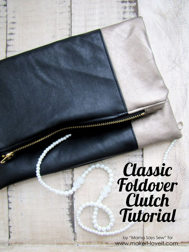 Make a Classic Leather Foldover Clutch - makes a great gift! | via Make It and Love It