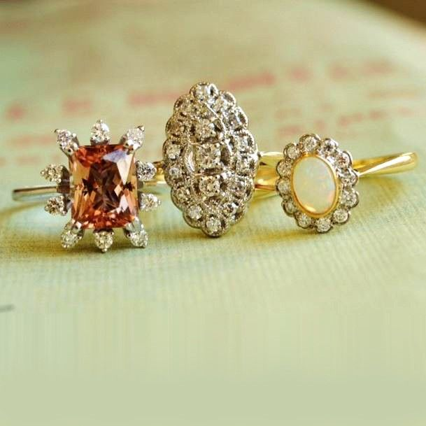 Love these vintage engagement rings.