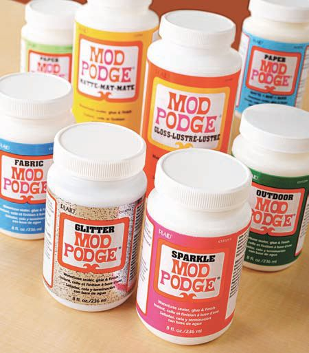 Mod podge the original all in one decoupage glue sealer - Colle mod podge ...
