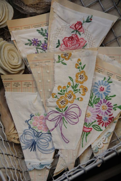 ... if you ever see an old pillowcase or doiles with holes in them, don't pass them by... they are perfect for art because you won't feel guilty cutting them up