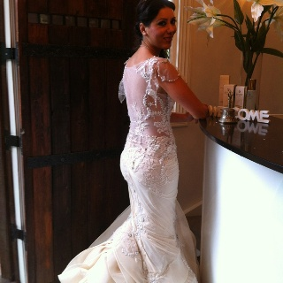 Wow! What a beautiful bride seen here arriving at The Castle on Tamborine for her honeymoon